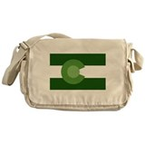 Green Colorado Messenger Bag