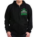 Trucker Bill Zip Hoodie (dark)