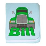 Trucker Bill baby blanket