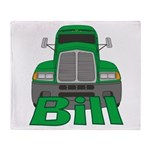 Trucker Bill Throw Blanket