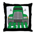 Trucker Bill Throw Pillow