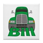 Trucker Bill Tile Coaster