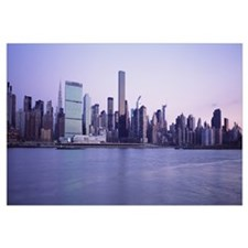 New York State, New York City, Skyscrapers in a ci