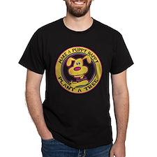 Make A Puppy Happy Black T-Shirt