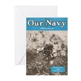 Navy Diver Greeting Cards (Pk of 10)