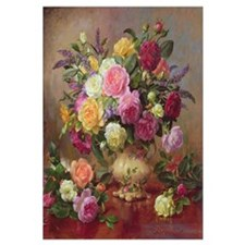 Roses from a Victorian Garden (oil on canvas)