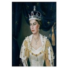 Portrait of Queen Elizabeth II wearing coronation