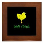 Irish Chick Framed Tile