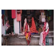 Customers at a clothing store, Udaipur, Rajasthan,