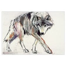 Wolf (mixed media on paper)