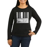 Women's Long Sleeve Piano Keyboard TShirt