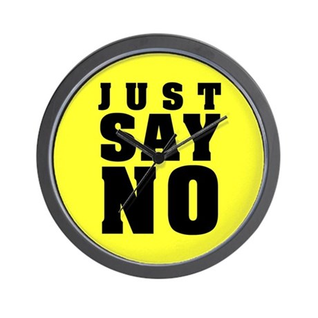 Just Say No With This Wall Clock