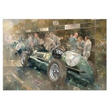 R. Parnell's Maserati (oil on canavs)