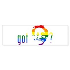 Rainbow Harvey Milk Bumper Sticker