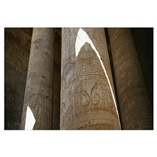 Low angle view of stone columns, Great Hypostyle H