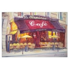 Cafe le Terminus, 2010 (oil on canvas)