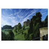 Castle on a landscape, Alnwick Castle, Northumberl