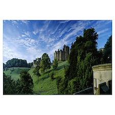 Castle on a landscape, Alnwick Castle, Northumberl
