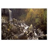 Water falling on rocks, Thornton Force, Ingleton,