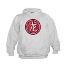 Funny Dragon and chinese symbols Hoodie