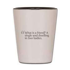 Aristotle What is a friend Shot Glass