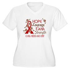 Hope Courage Faith AIDS T-Shirt