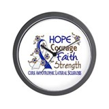 Hope Courage Faith ALS Wall Clock