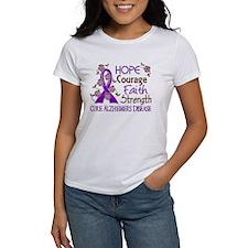 Hope Courage Faith Alzheimers Tee