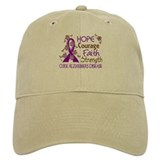 Hope Courage Faith Alzheimers Baseball Cap