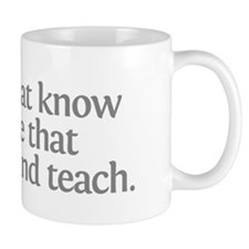 Aristotle Those that know do Mug