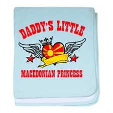 Daddy's Little Macedonian Princess baby blanket