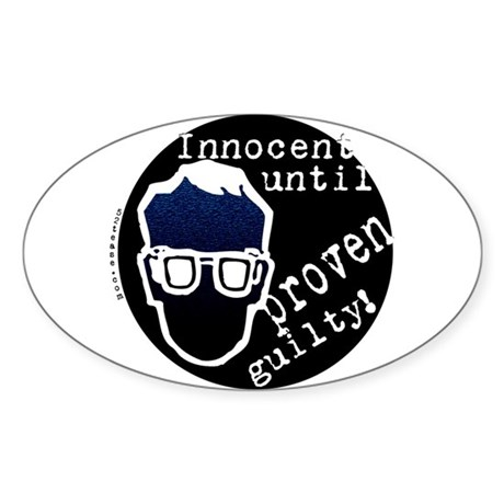Presumed Innocent Oval Sticker