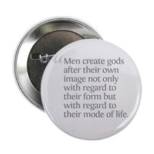"Aristotle Men create gods 2.25"" Button"