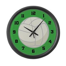 Volleyball Sports Large Wall Clock