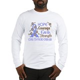 Hope Courage Faith Thyroid Disease Shirts Long Sle