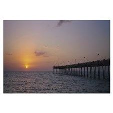 Pier at sunset, Gulf of Mexico, Venice, Florida