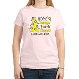 Hope Courage Faith Sarcoma Shirts T-Shirt