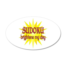 Sudoku Brightens 22x14 Oval Wall Peel