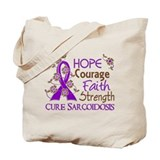 Hope Courage Faith Sarcoidosis Shirts Tote Bag