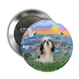 "SunriseLilies-ShihTzu#3 2.25"" Button (100 pack)"