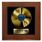 Dad Gold Disc Framed Tile