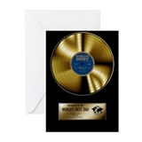 Dad Gold Disc Greeting Cards (Pk of 10)