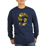 Dad Gold Disc Long Sleeve Dark T-Shirt