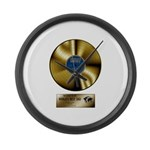 Dad Gold Disc Large Wall Clock