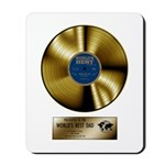 Dad Gold Disc Mousepad