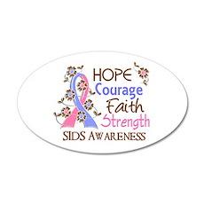 Hope Courage Faith SIDS Shirts 22x14 Oval Wall Pee