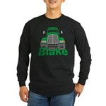Trucker Blake Long Sleeve Dark T-Shirt