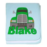 Trucker Blake baby blanket