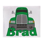 Trucker Brad Throw Blanket