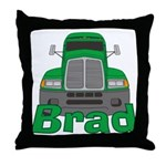 Trucker Brad Throw Pillow